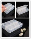 厂家供应无毒无味8格pp透明药盒塑料药盒迷你药盒环保便携8格药盒