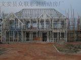 供应:轻钢结构环保型别墅