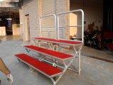 厂家供应铝合金合唱台 地毯式踏步折叠合唱台 可定制
