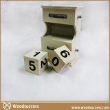 高质量的手工制作的木质日历盒