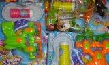 夏季热卖玩具,铭扬库存电动泡泡枪玩具称斤批发