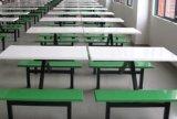江苏定制学生食堂连体餐桌椅 玻璃钢餐桌