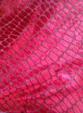 鳄鱼纹高档沙发面料 割绒面料 防火阻燃