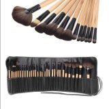 热销32支木柄专业化妆刷套刷柔软32PCS Superior Soft Cosmetic Makeup Brush Set Kit with Black