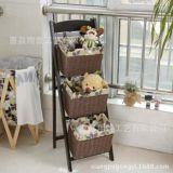 宿舍神器床头挂篮 可折叠多用内衣收纳篮带筐花架