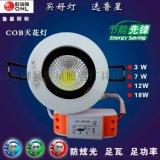 鲁星照明直销COB天花灯3W新款大功率高亮COB节能射灯家装工程定做