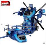 美致2374PF一键遥控变形金刚大黄蜂旋翼汽车电动机器人模型儿童玩具变形飞机