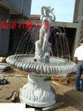 石雕喷泉 摆件 园林景观  人物喷泉