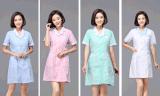 护士服短袖湖蓝领冬夏款西装领白大褂美容服药店药房工作服