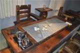 船木家具龙骨大茶台,龙骨电磁炉茶台