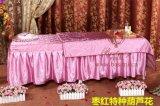 厂家专业订做美容床床罩三件套枣红特种葫芦花