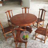 太古车轮元台定制批发 品艺8人实木圆桌,实木餐桌椅组合