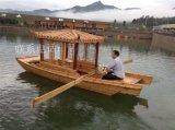 单亭船带篷船木船木质手划船木船厂家出售景区观光游船
