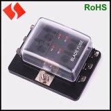汽车多路保险丝盒 保险丝座 一进多出带LED灯保险丝盒