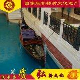 新款热卖威尼斯贡多拉手划船,景区酒店房地产装饰船