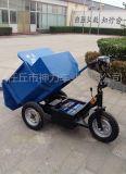 神力SL-003建筑用电动灰斗车/电动拉灰小型三轮车/养殖专用电动拉饲料拉化肥拉粪自卸翻斗三轮车