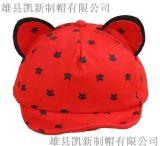 儿童夏天韩版新款户外休闲棉质中性立体猫咪耳朵定制款鸭舌帽