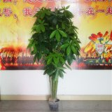 厂家批发仿真绿植8杆发财树盆景盆栽客厅装饰摆设绿色植物假树