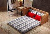 藤格格TGG105-2厂家批发藤沙发床 折叠藤沙发 多功能沙发床藤艺双人床 小户型沙发床