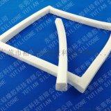 耐高温硅胶条 白色硅胶发泡密封条设备
