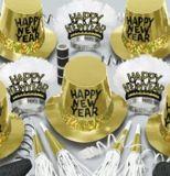 新年金粉纸帽子喇叭吹龙字母横幅拉花面具 彩色印刷uv印刷派对产品
