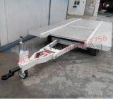 6吨带撞刹铝质平板拖车