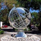 广场地球仪不锈钢雕塑