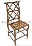 【夏思家居】美式乡村竹藤书桌椅餐桌椅 仿古做旧loft工艺家具