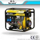 5KW单相常规开架DG6000E电启动带30AH电瓶柴油发电机