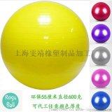 上海雯靖品牌55厘米瑜伽健身球可定制LOGO支持代工