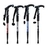 四节防滑超轻登山杖 伸缩爬山拐杖老人手杖折叠拐棍徒步户外装备