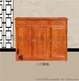 花梨木红木鞋柜,玄关柜中式实木餐边柜