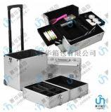 厂家直销万向轮拉杆行李箱手提包旅行箱大铝合金化妆箱JH569