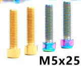 山地车M5*25加长刹把固定钛合金螺丝