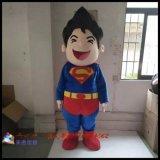 卡通人偶行走服装定做,超人形象人偶