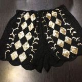 重工珠片刺绣雪纺亮片打底短裤热裤