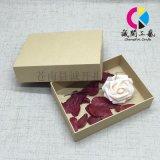 牛皮纸复古礼盒收纳盒 简约天地盖包装盒 长方形通用包装礼盒