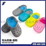 亞馬遜爆款兒童洞洞鞋涼拖鞋時尚健康硅膠果凍鞋沙灘鞋平底休閒鞋