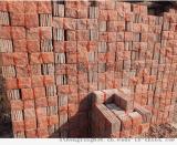 厂家加工直销桃红玉蘑菇石 纯天然石材 红色玉石材质适合贴外墙