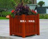 移动木制花箱 道路实木花盆 隔离木花盆