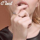 三件套个性情侣开口戒指 丘比特爱神之箭头戒指镶锆石 合金戒指