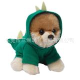 可愛冬天穿衣仿真小狗毛絨玩具廠家直銷