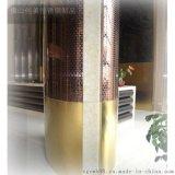 佛山定制 玫瑰金不锈钢商场立柱 酒店不锈钢栏杆花瓶柱