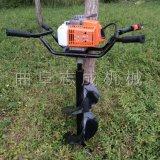 汽油兩衝程手提式雙人植樹挖坑機