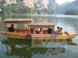 木質船高低篷景區觀光船水上餐飲船觀光遊船農家樂水庫休閒娛樂客船