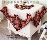 镂空彩绣桌布 36方成套