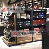 大沣DF-031精品超市货架展柜进口食品进口商品铁木结合货架尺寸层高可定制