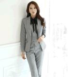 厂家定制高档职业装配裤套装公司白领工作服正装两件套