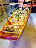 楚风木船出售云南谭木匠船吧台木船木质装饰船