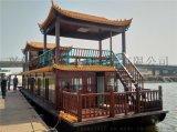 山东河北湖南哪里有传统中式电动船 景区画舫游船 水库景观旅游木质船